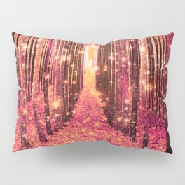 Magical Forest Pink Living Coral Peach Pillow Sham