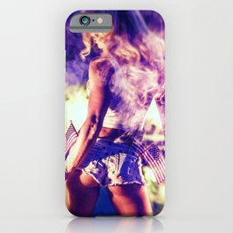 9366 Sexy Blonde Girl Fireworks iPhone Case