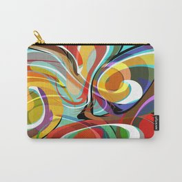 Colorful Abstract Whirly Swirls - V1 Carry-All Pouch