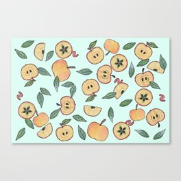 Apples watercolor Canvas Print
