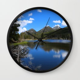 Sprague Lake And Cloud Reflection Wall Clock