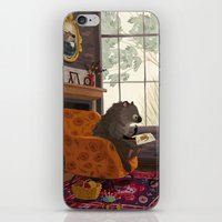 beaver iPhone & iPod Skins featuring Little beaver by olgademidova