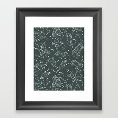 Animal Constellations - Gray by Andrea Lauren Framed Art Print