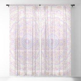 Funky mandala Sheer Curtain