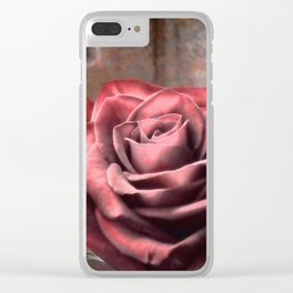 Love Is A Rose Clear iPhone Case