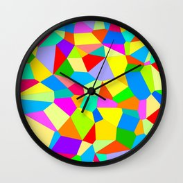 Colour Confusion Pattern - by Rui & Cheryl  Wall Clock