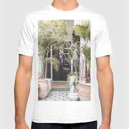Tropical Plants Interior Design Photo | Leaves In Marrakech Art Print | Morocco Travel Photography T-shirt