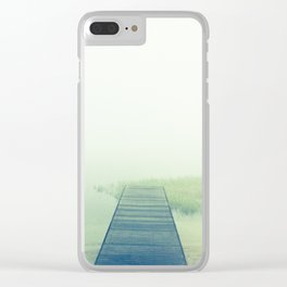 foggy lake Clear iPhone Case