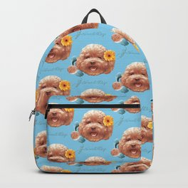 Toy Poodle Puppy Face Backpack