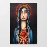 madonna Canvas Prints featuring Madonna by Alice Celia Lioniello