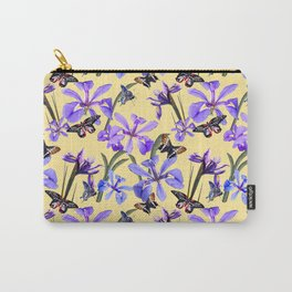 Irises and Butterflies Carry-All Pouch