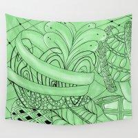 zentangle Wall Tapestries featuring Zentangle by Annalisa Amato Art