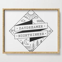 daydreamer nighthinker II Serving Tray