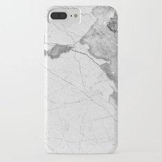 White Marble iPhone 7 Plus Slim Case