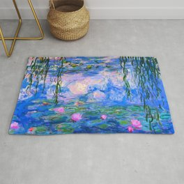 Water Lilies Claude Monet Restored Rug