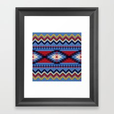 Aztec pattern Framed Art Print