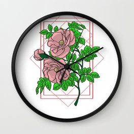 Rose Gold Aesthetic Wall Clock