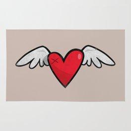 Winged heart Rug