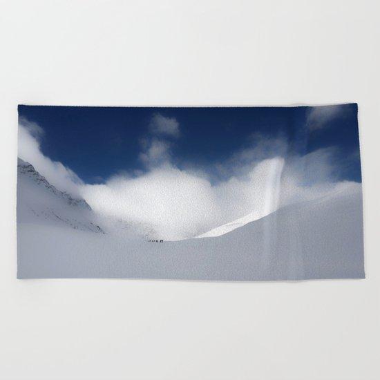 White Mountain Winter Beach Towel