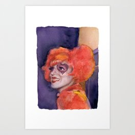Nawlins Clown Girl Art Print
