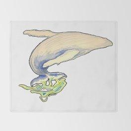 Humpback whale jump Throw Blanket