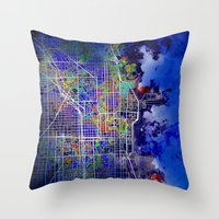 chicago Throw Pillows featuring chicago by Bekim ART