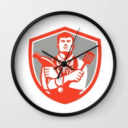 Jack of All Trades Crest Retro Wall Clock