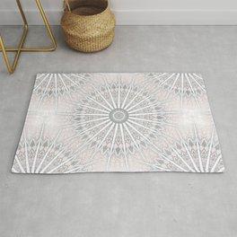 Blush Taupe Geometric Mandala Rug
