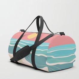 Crashing wave on sunny bay Duffle Bag