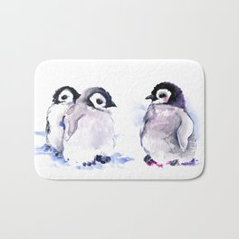 Penguins, penguin design baby penguin art, children gift Bath Mat