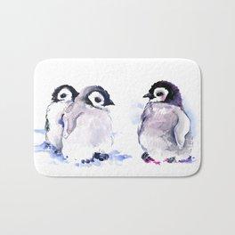 Penguins, penguin design baby penguin art, children gift Bath Mat