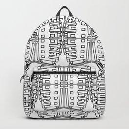 Bauhaus Buildings- black and white pattern art print Backpack