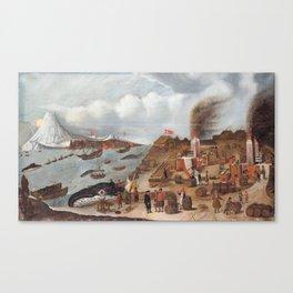 Abraham Speeck - Danish Whaling Station (1634) Canvas Print