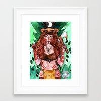 skyrim Framed Art Prints featuring Skyrim Warrior by Jazmine Phillips