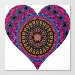 XL Valentine's Heart 3 Canvas Print