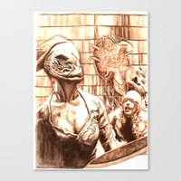 silent hill Canvas Prints featuring Silent Hill a by Joseph Silver
