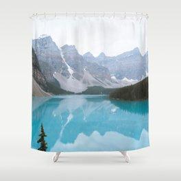Moraine Lake reflections Shower Curtain