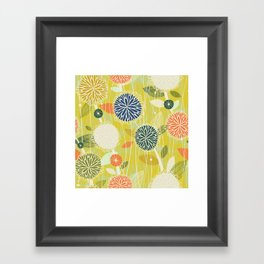 Pom Poms M+M Apple by Friztin Framed Art Print