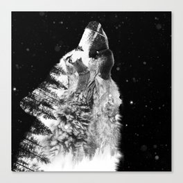 Wolf Howl Canvas Print