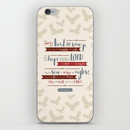 """Hope in the Lord"" Hand-Lettered Bible Verse iPhone Skin"