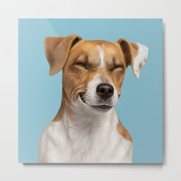 Smiling Dog (Jack Russell) Metal Print