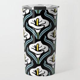 Calla Lily Pattern Travel Mug