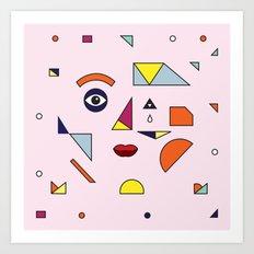 Face Modern (no.2) Art Print