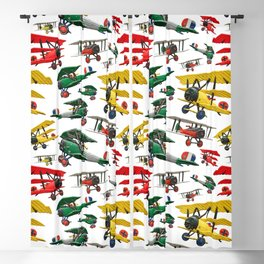 Assorted set of generic vintage First World War toy airplanes Blackout Curtain