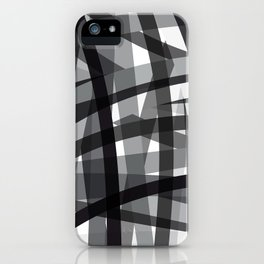 grey crossed stripes iPhone Case