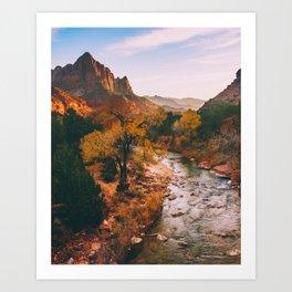 Sunset at Zion Fine Art Print Art Print