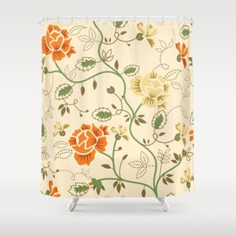 Country Flowers (light) Shower Curtain