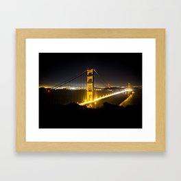 San Francisco Golden Gate Bridge Nightscape Framed Art Print
