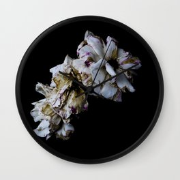 Decaying flowers Wall Clock