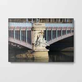 Lyon France Bridge Metal Print